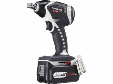 Panasonic EY75A2LS2G Dual Voltage 14.4V/18V Impact Wrench inc 2x 4.2Ah 18V Batt