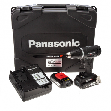 Panasonic EY74A1LF2T 14.4/18v Dual Voltage Drill/Driver 2x 2.0Ah Batts