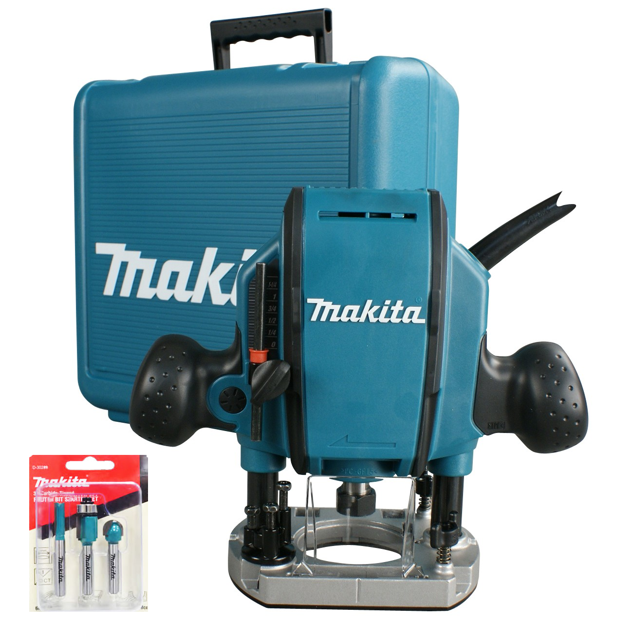 "Makita RP0900X 1/4"" or 3/8"" Plunge Router 240v"