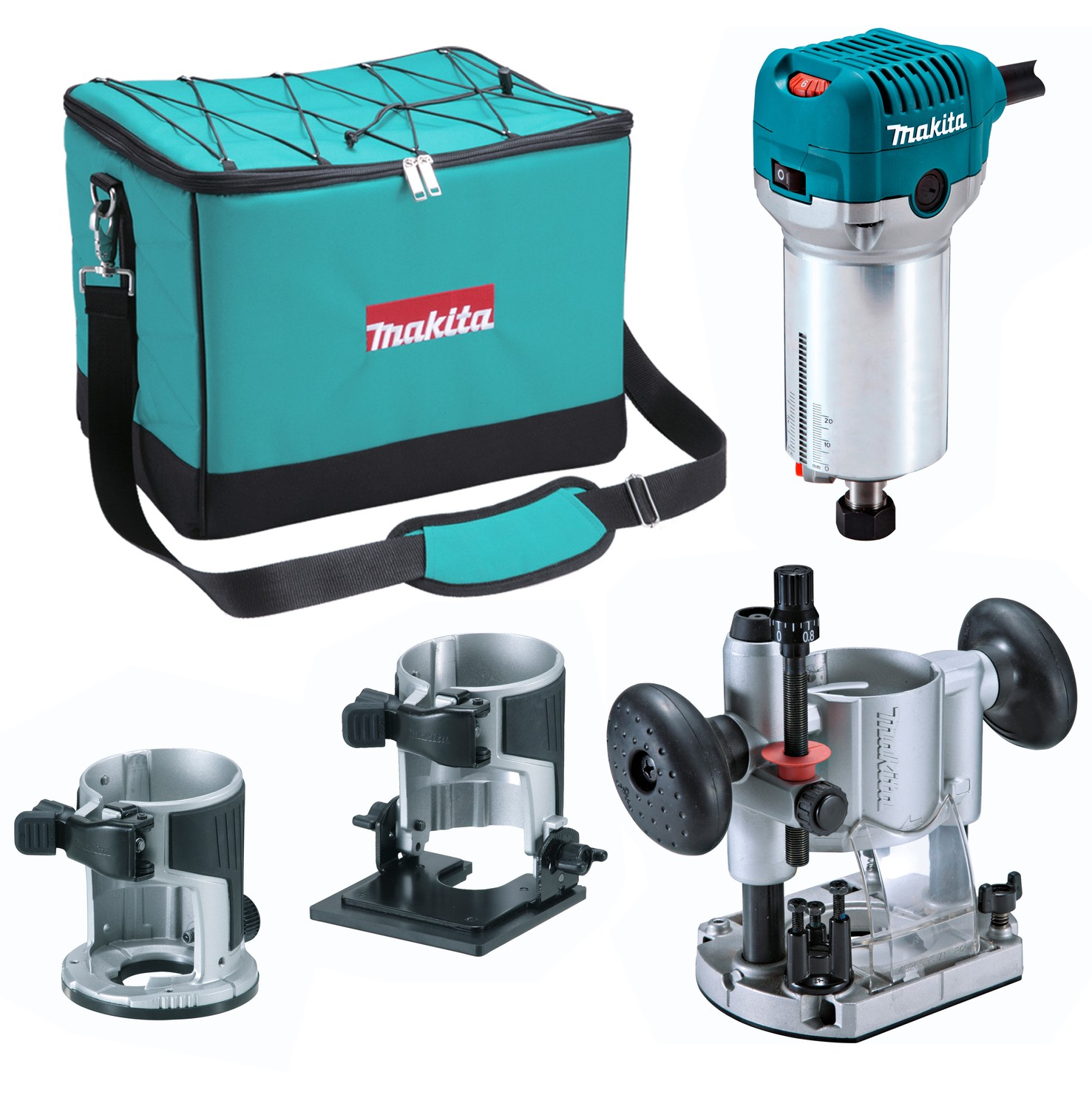 Makita RT0700CX2 Router / Trimmer with Bases 110v