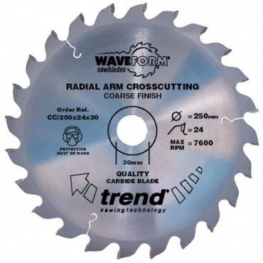 Trend CC/250X42X30 Saw blade crosscut 250mm x 42 th. x 30mm