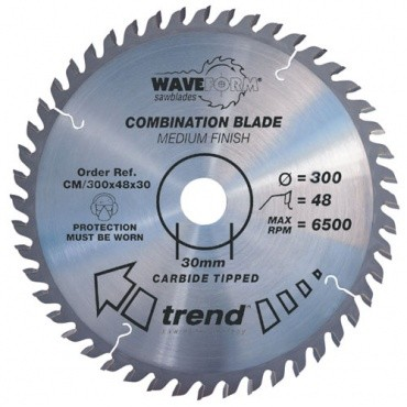 Trend CM/300X48X30 Saw blade combination 300mm x 48 th. x 30mm