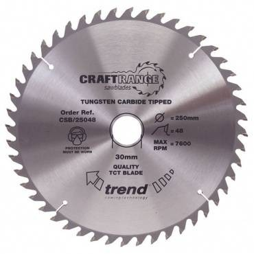 Trend CSB/16548B Craft saw blade 165mm x 48 th. x 20mm