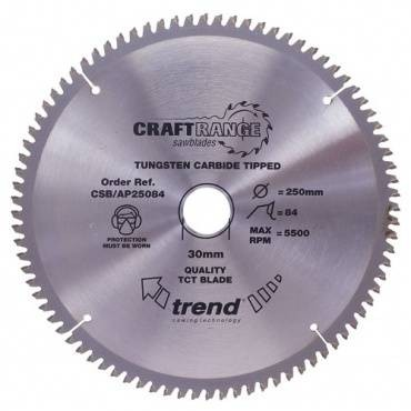 Trend AP/250X80X30 Saw blade alloy or plastic 250mm x 80 th. x 30mm