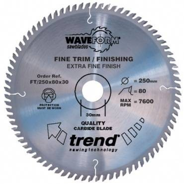 Trend FT/250X80X30 Saw blade fine trim 250mm x 80 th. x 30mm