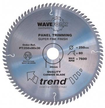 Trend PT/250X80X30 Saw blade panel trim 250mm x 80 th. x 30mm