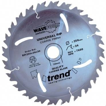 Trend RP/250X24X30 Saw blade rip 250mm x 24 th. x 30mm