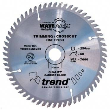 Trend TR/250X60X30 Saw blade trimming 250mm x 60 th. x 30mm