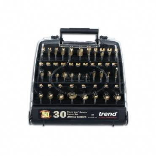 Trend SET/SS30X1/4TC 30 pce cutter set