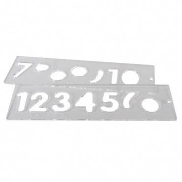 Trend TEMP/NUC/57 Template set number 57mm uppercase