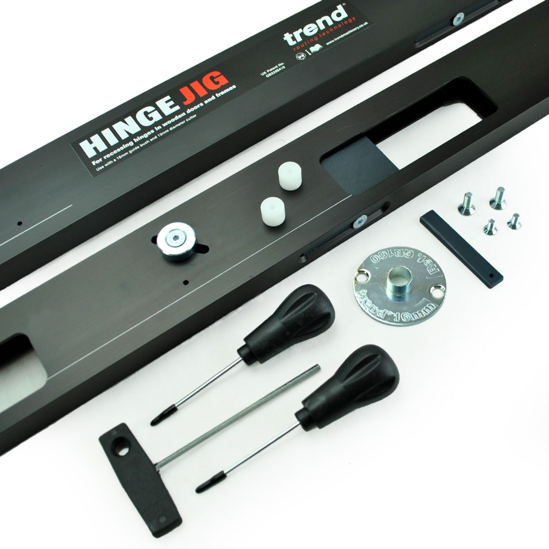 Trend H/JIG/A Hinge Jig Two Part Template Set in Case | Powertool World