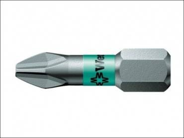 Wera 851/1 BTZ Phillips BiTorsion PH2 Extra Tough Bit 25mm Pack of 2 073361