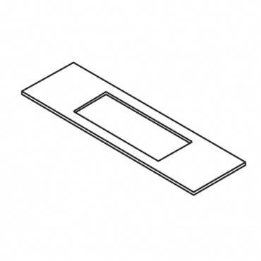 Trend WP-LOCK/T/6 Lock template 25.4mm x 145mm faceplate