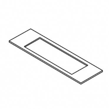Trend WP-LOCK/T/G Lock template 24mm x 57mm faceplate 19x41mm mortise