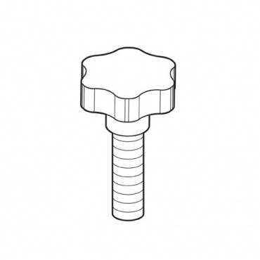Trend WP-PRT/79 Mitre fence knob M6 x 25mm male