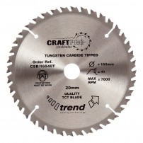 Trend CSB/16540T CraftPro Saw Blade 165mm x 40 Teeth x 20mm Thin