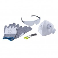 Bosch Work Safety Kit inc Gloves, Glasses, Ear Plugs & Fine Dust Mask 2607017183