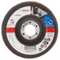 Bosch 60 Grit Flap Disc X571 Best for Metal Grinding 115mm 2608605451