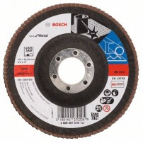 Bosch 120 Grit Flap Disc X571 Best for Metal Grinding 115mm 2608607319