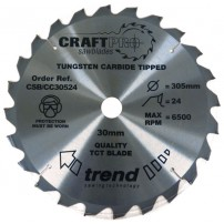 Trend CSB/CC30524 CraftPro Saw Blade Crosscut 305mm x 24 Teeth x 30mm