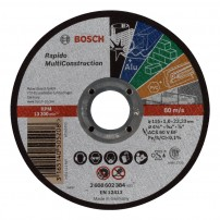 Bosch Multi Construction Rapido Straight Cutting Disc 115mm 2608602384