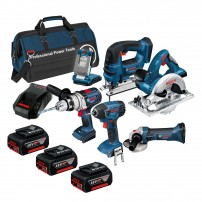 Bosch BAG+6RS 18v 6 Piece Cordless Tool Kit with 3x 5.0Ah in LBAG+ 0615990H98