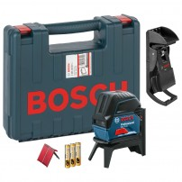 Bosch GCL 2-15 Self-Levelling Cross Line Laser with BM3 & RM1 Wall Mount 0601066E02