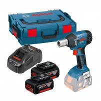 Bosch GDS 18 V-LI Cordless Impact Wrench inc 2x 5Ah Batts in L-Boxx