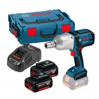 Bosch GDS 18 V-LI HT High Torque Impact Wrench inc 2x 5Ah Batts