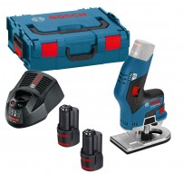 Bosch GKF 12V-8 Brushless Cordless Compact Router Trimmer inc 2x 3.0Ah Batts