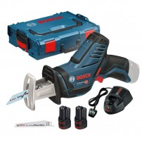 Bosch GSA 10.8 V-LI (12V-14) Mini Cordless Reciprocating Sabre Saw inc 2x 2.0Ah Batts