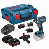 Bosch GSR 18 V-60 FCC FlexiClick Drill Driver inc 4x Chucks & 2x 5.0Ah Batts