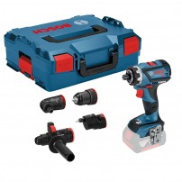 Bosch GSR 18 V-60 FCC FlexiClick Drill Driver Body Only in L-Boxx inc 4x Chucks