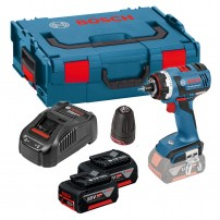 Bosch GSR 18 V-EC FC2 FlexiClick Brushless Drill Driver with GFA Chuck & 2x 5.0Ah Batts