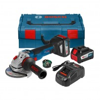 Bosch GWS 18V-125 SC Brushless Angle Grinder inc GCY 30-4 Module & 2x 6.3Ah Batts 125mm / 5""