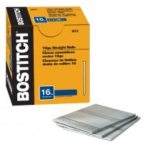 Bostitch 25mm 2nd Fix Straight 16G Brad Nails Galvanized SB16-1.00 Pack of x5000