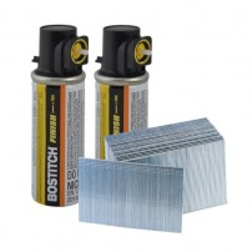 Bostitch 38mm 2nd Fix Straight 16G Brad Nails Galvanized inc 2x Gas Cells 16G38FC
