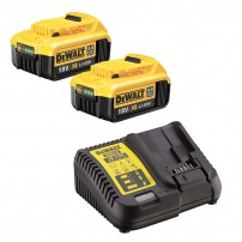 DeWalt DCB182X2/DCB115 2x 4.0Ah XR 18v Li-Ion Batteries and Charger Starter Kit