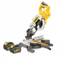 DeWalt DCS777T2-GB 54v XR FLEXVOLT Cordless Brushless 216mm Mitre Saw inc 2x DCB546 Batts