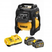 DeWalt DCC1054T2-GB 54v XR FLEXVOLT Cordless 10L Air Compressor inc 2x DCB546 Batts