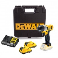 "DeWalt DCF610D2 10.8v XR 1/4"" Hex Screwdriver inc 2x 2.0Ah Batts"