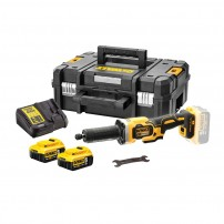 DeWalt DCG426P2-GB 18v XR Brushless Die Grinder inc 2x 5.0Ah Batts