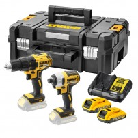 DeWalt DCK2059D2T-GB Brushless 18v Drill & Impact Driver inc 2x 2.0Ah Batts in TSTAK Case