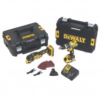 DeWalt DCK208D2T-GB 18v XR DCD796 Combi & DCS355 Multicutter Twin Kit inc 2x 2.0Ah Batts