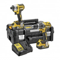 DeWalt DCK266P2T Brushless 18v Combi Drill & Impact Driver inc 2x 5Ah Batts in TSTAK Case
