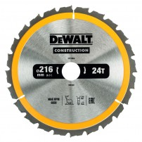 DeWalt DT1952-QZ Circular Saw Blade Construction 216mm x 30mm x 24 Teeth