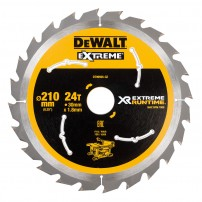 DeWalt DT99565-QZ XR FLEXVOLT eXtreme Runtime 210mm x 30mm x 24T Table Saw Blade