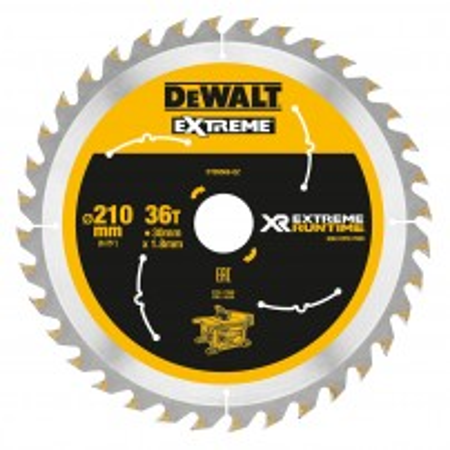 DeWalt DT99566-QZ XR FLEXVOLT eXtreme Runtime 210mm x 30mm x 36T Table Saw Blade