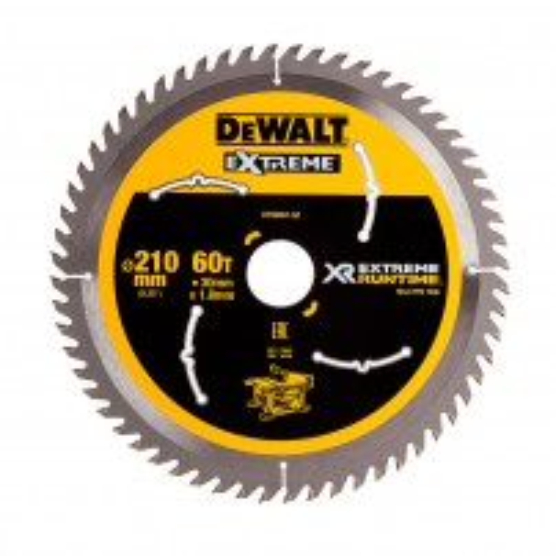 DeWalt DT99567-QZ XR FLEXVOLT eXtreme Runtime 210mm x 30mm x 60T Table Saw Blade