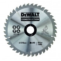 DeWalt DT1155-QZ Circular Saw Blade Construction 216mm x 30mm x 40 Teeth